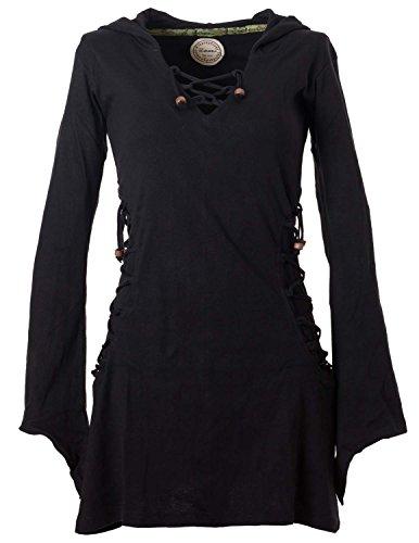 Vishes - Alternative Bekleidung - Elfenkleid mit Zipfelkapuze und Bändern zum Schnüren