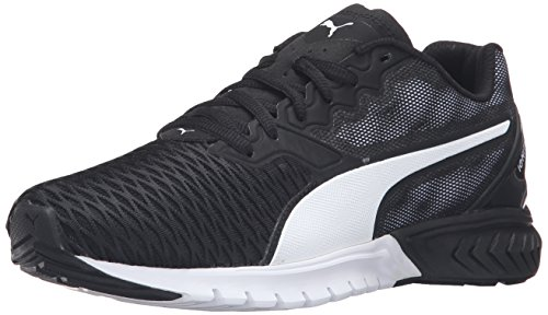 PUMA Women's Ignite Dual Wn's Running Shoe, Black White, 6.5 M US