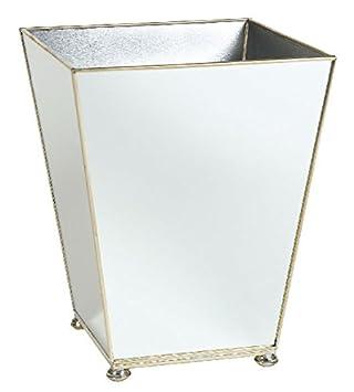 Awesome Bathroom Trash Can Bathroom Accessories Mirrored Wastebasket