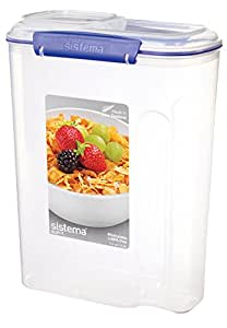 Sistema Klip It Collection Cereal Food Storage Container, 142 Ounce/17.75 Cup