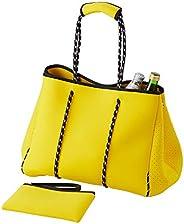 Beach Bag,Large Neoprene Beach Bag,Waterproof Shoulder Beach Bag,Multipurpose Beach Bag Tote for Travel Beach