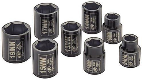 Amazon Com Ingersoll Rand Sk3m8 3 8 Inch Drive Metric Standard Impact Socket Set 8 Piece Home Improvement