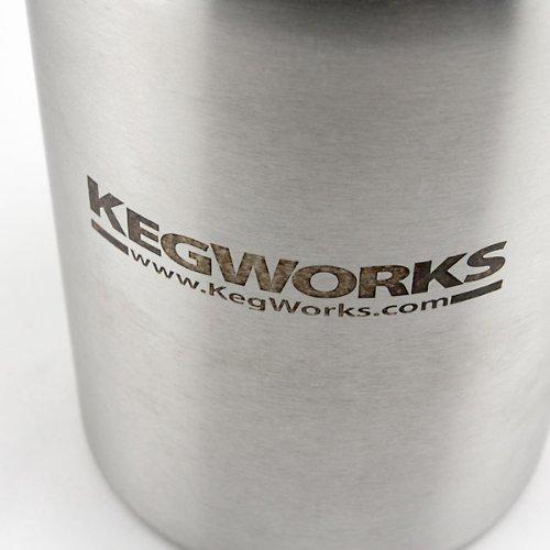 KegWorks Stainless Steel Beer Growler - 64 oz