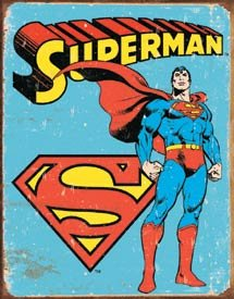 Superman Distressed Retro Vintage Tin Sign