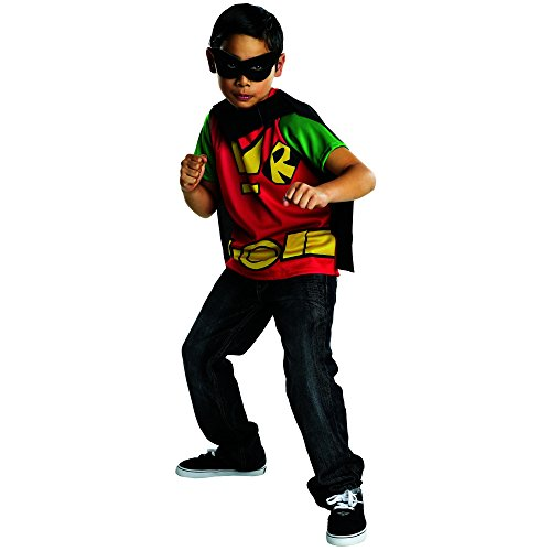 Titans Mascot Costume (Rubies Teen Titans Go Robin Costume, Child Large)
