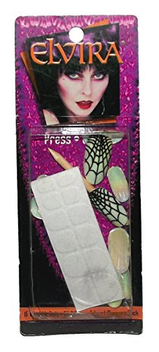 Elvira Opal Spiderweb Press On Nails
