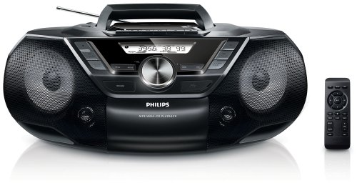 Philips AZ787 CD-Soundmachine (Digitaler Tuner, USB Direct, Dynamic Bass Boost, Sleep-Timer, Kassetten-Deck) schwarz