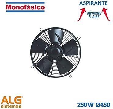 Ventilador frigorífico aspirante monofásico VMF-450A/4M: Amazon.es ...