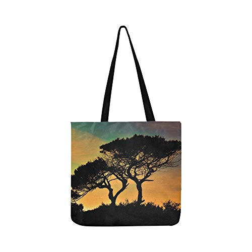 Cyprus Cavo Greko National Park Trees Sunset Canvas Tote Handbag Shoulder Bag Crossbody Bags Purses For Men And Women Shopping Tote (Saint Laurent Monogram Leather Cross Body Bag)