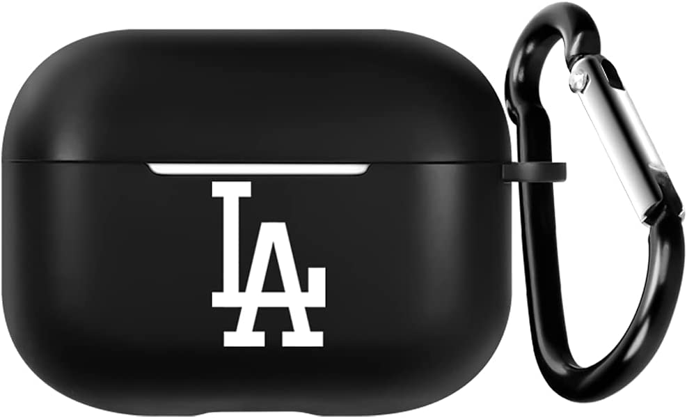 for LA Baseball Fans AirPods PRO Case with Keychain Designed Compatible with Apple AirPods pro- Silicone Skins - Protects- Shock-Absorbing Protective Case (Brooklyn Big 3)(La Baseball Pro)