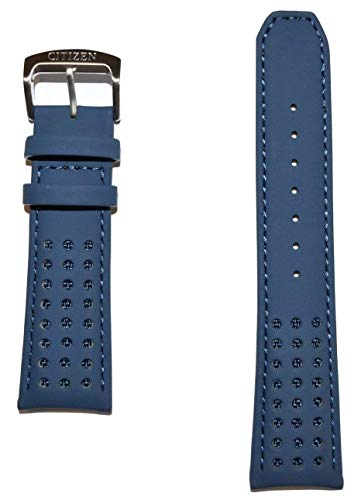 Original Citizen Blue Angels 23mm Blue Leather Band Strap For Watch Model: - Angel Leather