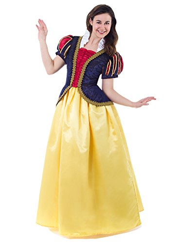 Snow White Deluxe Adult Womens Costumes (Little Adventures Deluxe Women's Snow White Dress-Up Costume - Size Adult 2 - 4)