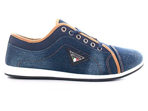 Herren Sport Running Sneaker Laufschuhe Blue / Jeanslook # 90065