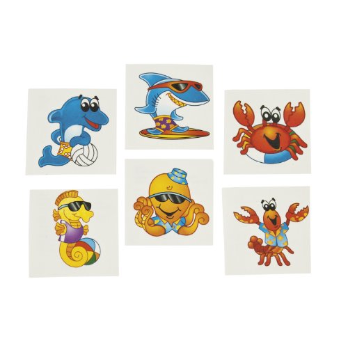 Fun Express Sea Creature Tattoos (6 Dozen) -