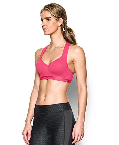Under Armour Women's Armour High Bra, Pink Sky/Pink Sky, 32A by Under Armour (Image #2)