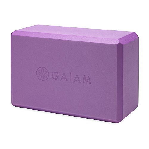 Gaiam Yoga Block - Supportive Latex-Free EVA Foam Soft Non-Slip Surface for Yoga, Pilates, Meditation, Deep Purple