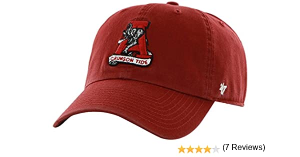 online store 65a3e 12d44 ... canada release date amazon ncaa alabama crimson tide 47 brand clean up  adjustable hat razor red