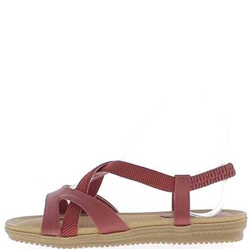 Rosso sandalo con unico conforto