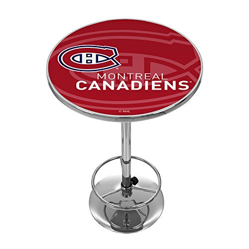 Trademark Gameroom NHL2000-MC-WM NHL Chrome Pub Table - Watermark - Montreal Canadiensa