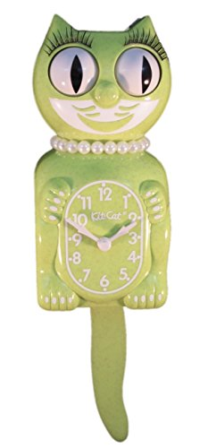 New Classic Vintage Kit-cat Klock Chartreuse Sparkle Gold Lady Cat Clock Limited Edition with Free Batteries Made in USA Official Dealer Vintage Gold Sparkle