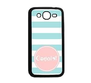 """Coexist Aqua Stripes Circle Hipster Aqua Silicon Bumper Samsung Galaxy Mega 5.8 Mega 5.8"""" i9150 Case - Fits Samsung Galaxy Mega 5.8 Mega 5.8"""" i9150"""