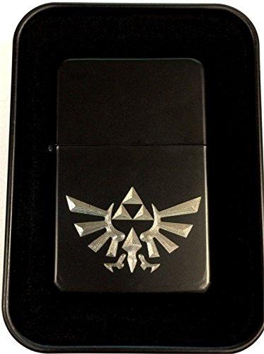 Zelda Triforce Black Engraved Cigarette Metal Lighter Biker Gift LEN-0114