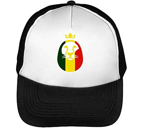 Zion Styled King Blanco Beisbol Hombre Gorras Snapback Lion Negro Of aBZq5w