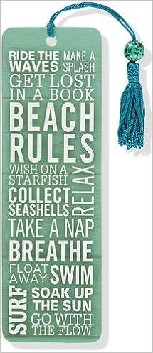 Book Beach Rules Beaded Bookmark