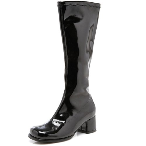 Black Gogo Boots (1.75 Inch Heel Children's Gogo Boot (Black;Medium))