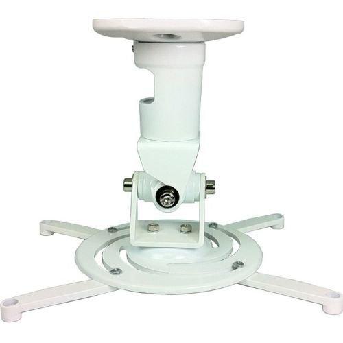 AMER Projector Mount - Universal Ceiling Bracket LCD DLP Tilt 360° Swivel 30lbs (White) by Amer