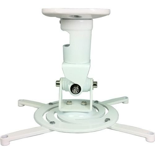 (AMER Projector Mount - Universal Ceiling Bracket LCD DLP Tilt 360° Swivel 30lbs (White))