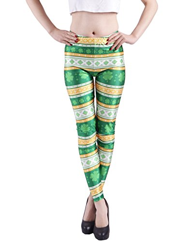 HDE Digital Graphic Footless Leggings