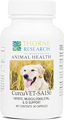 Thorne Research Veterinary - CurcuVET-SA150 Soy Free Formula - Hepatic, Muscoloskeletal, & GI Support - 90 Capsules by Thorne Research