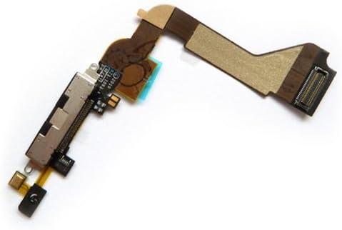 Flex Conector Dock Carga/Datos + micrófono para iPhone 4 Negro