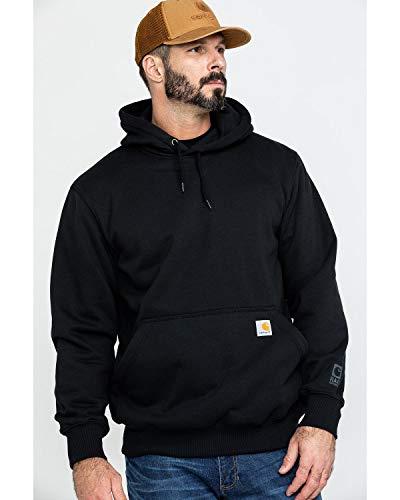 Carhartt Men's Rain Defender Paxton Heavyweight Hooded Sweatshirt, Black, Large