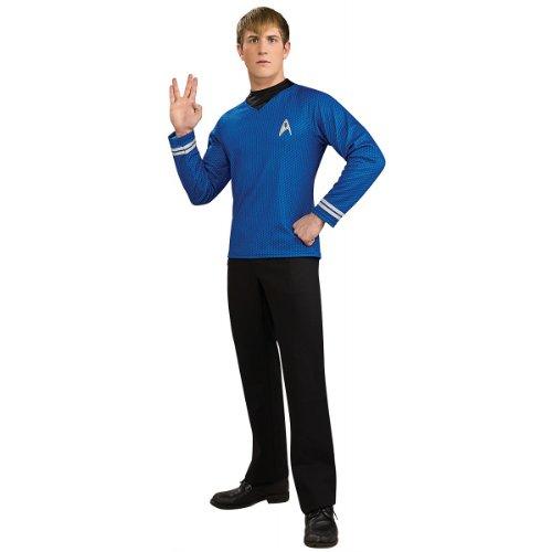 Deluxe Star Trek Shirt Adult Costume Blue - Large -