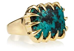 Isharya African Turquoise Claw Statement Ring, Size 7