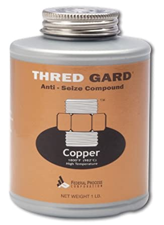 Gasoila Thred Gard Copper Based Anti-Seize and Lubricating Compound, 1 lbs Brush Federal Process CG16