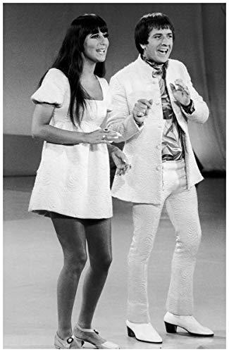 8 x 10 Framed Photo Cher-1960s Sonny On Fuji Fim -