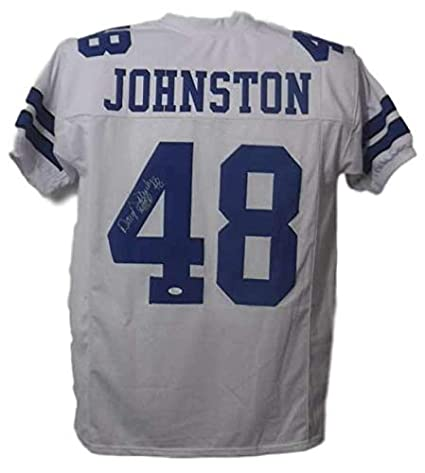 f3404057d Autographed Daryl Johnston Jersey - Moose White XL 15022 - JSA Certified - Autographed  NFL Jerseys