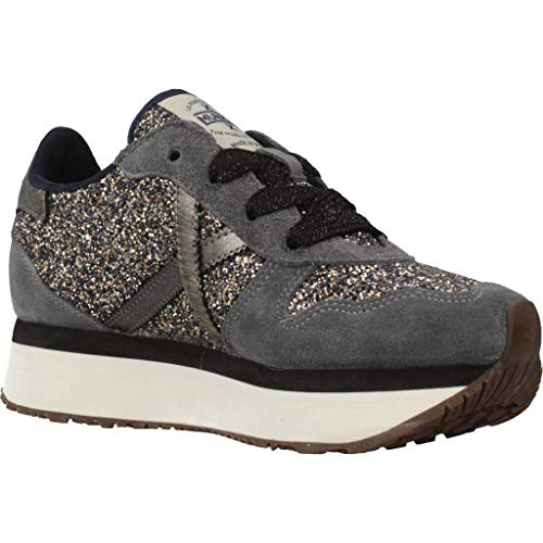 Grigio Donna Azzurro Mod glitter Sky 01 Sneaker Suede D19mu03 Super Munich 8AYwqR