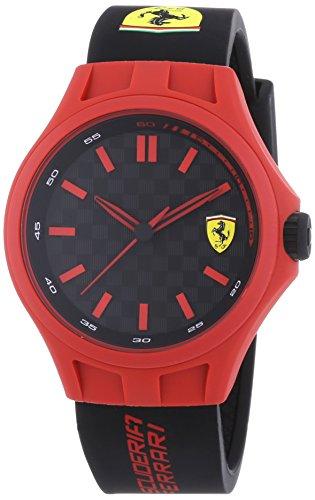 Scuderia Ferrari 0830194 Mens Pit Crew Red Black Rubber Watch