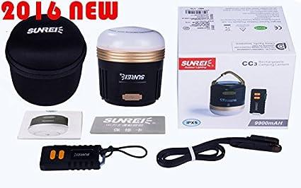 SUNREI CC3 Portable USB Rechargeable Camp Lamp Emergency Lamp 9900mAh Waterproof