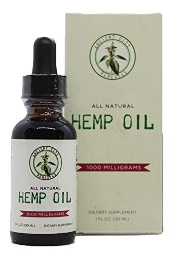Ancient City Remedies Hemp Oil Supplement Sublingual Tincture 1000mg 30mL Peppermint Flavor