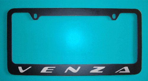 Toyota Venza Black License Plate Frame (Zinc Metal)