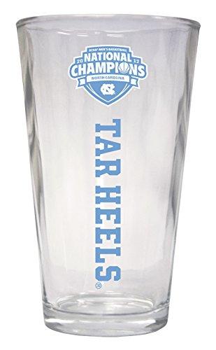 UNC Tar Heels 2017 NCAA Men's National Basketball Champs 16 oz Pint Glass
