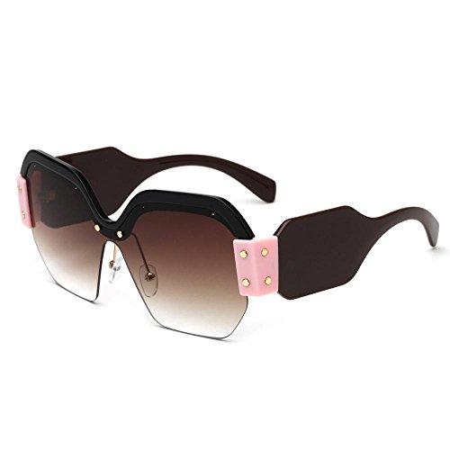 Gafas marco marca D sol de mitad de sol Europea hombres gafas de Aoligei los moda 1URRO