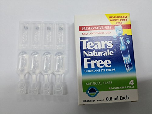 ALCON Tears Naturale Free Lubricant Eye Drops 4 reclosable vails 0.8ml -