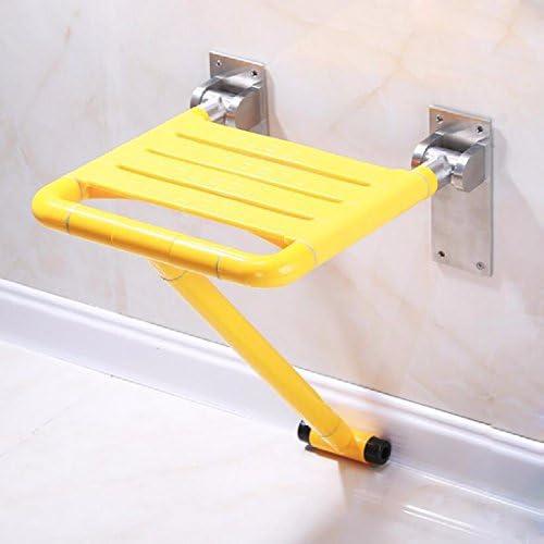浴室用手すり バスルームの折り畳み椅子の高齢者は足に入浴する椅子のステンレスのシャワー椅子の折り畳みの壁の椅子を持っています,白