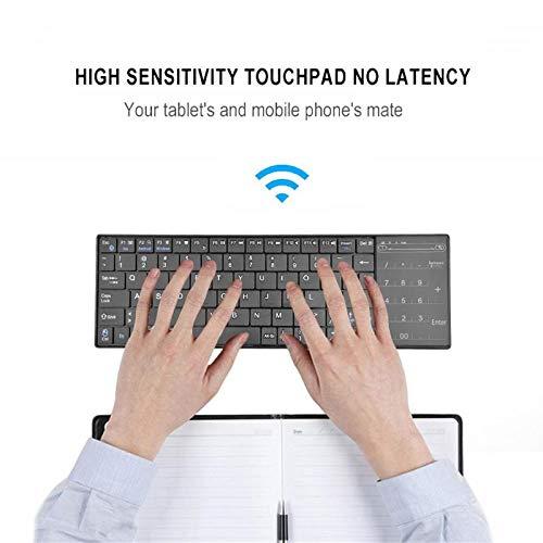 Fasmodel - Ultra Slim Wireless Bluetooth Touch Keyboard Touchpad 83 Keys Keyboard for Tablet Desktop Laptop Notebook PC Computer (83 Key Notebook)